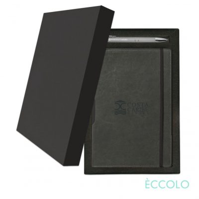 Eccolo® Rhythm Journal/Clicker Pen Gift Set - (M) Gray
