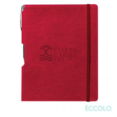 Eccolo® Rhythm Journal/Clicker Pen - (L) Red