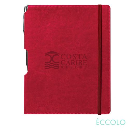 Eccolo® Rhythm Journal/Clicker Pen - (L) Red