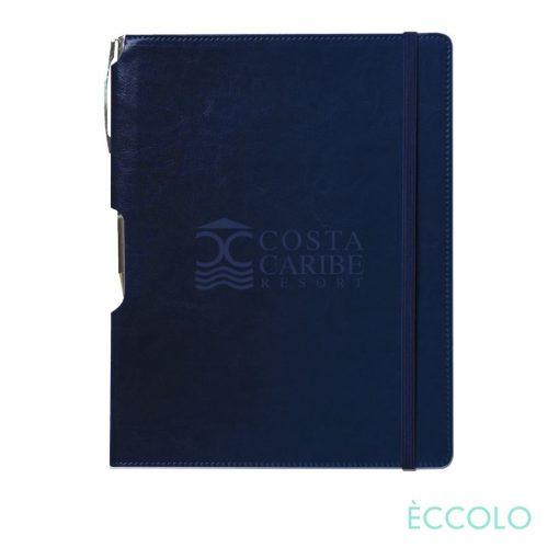 Eccolo® Rhythm Journal/Clicker Pen - (M) Navy Blue