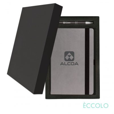 Eccolo® Salsa Journal/Clicker Pen Gift Set - (M) Black