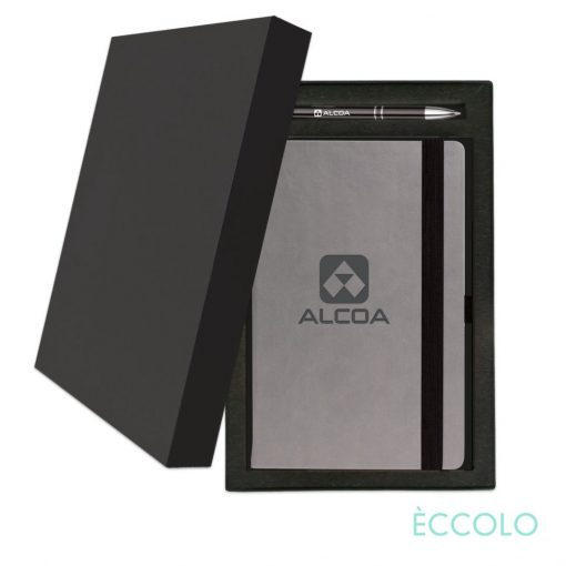 Eccolo® Salsa Journal/Clicker Pen Gift Set - (M) Black