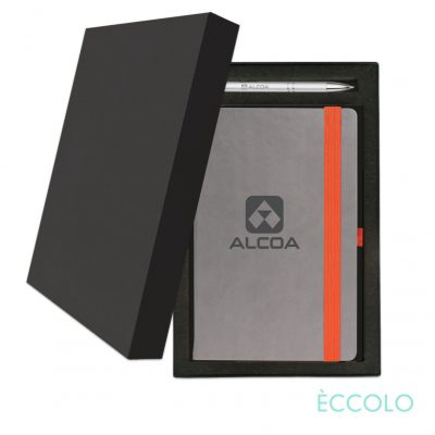Eccolo® Salsa Journal/Clicker Pen Gift Set - (M) Orange