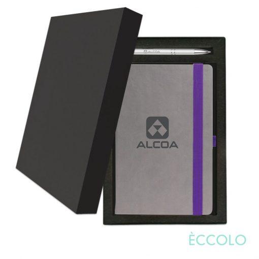 Eccolo® Salsa Journal/Clicker Pen Gift Set - (M) Purple