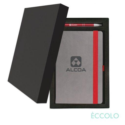 Eccolo® Salsa Journal/Clicker Pen Gift Set - (M) Red