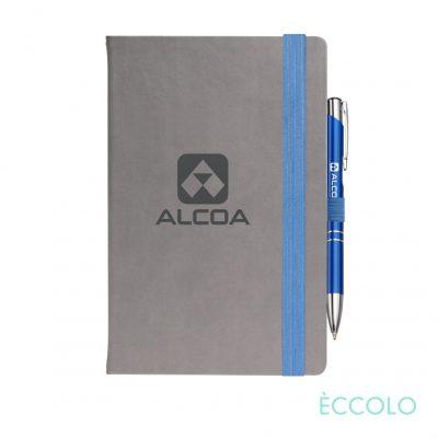 Eccolo® Salsa Journal/Clicker Pen - (M) Blue
