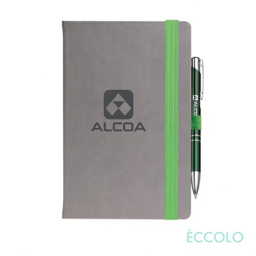 Eccolo® Salsa Journal/Clicker Pen - (M) Green