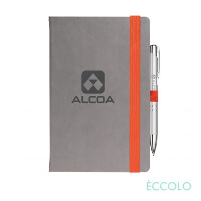Eccolo® Salsa Journal/Clicker Pen - (M) Orange