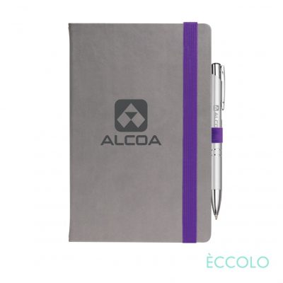 Eccolo® Salsa Journal/Clicker Pen - (M) Purple