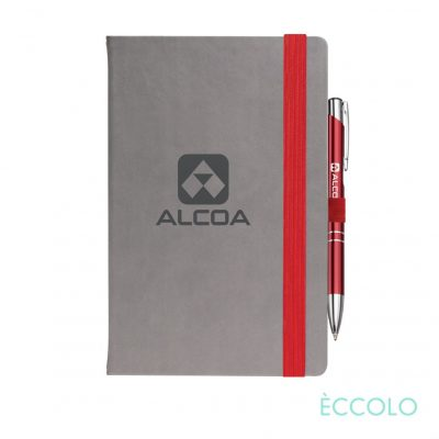 Eccolo® Salsa Journal/Clicker Pen - (M) Red