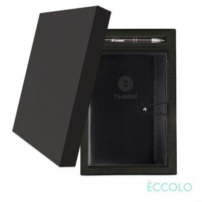 Eccolo® Slide Journal/Clicker Pen Gift Set - (M) Black
