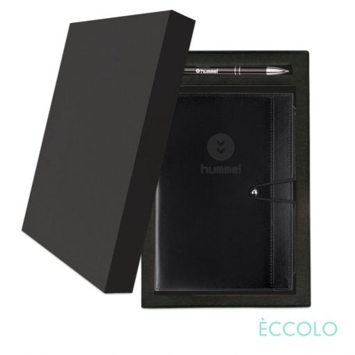 Eccolo® Slide Journal/Clicker Pen Gift Set - (M) Black