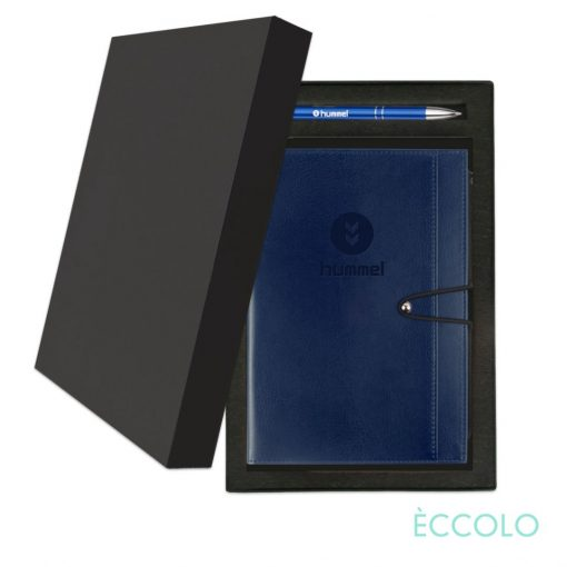 Eccolo® Slide Journal/Clicker Pen Gift Set - (M) Blue