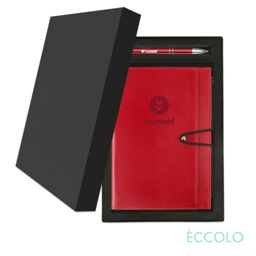 Eccolo® Slide Journal/Clicker Pen Gift Set - (M) Red