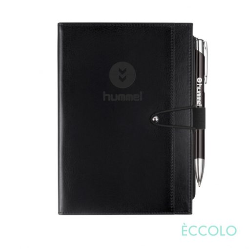 Eccolo® Slide Journal/Clicker Pen - (M) Black