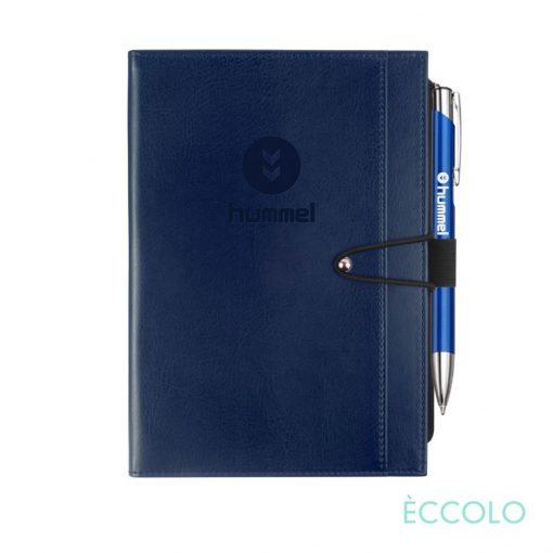 Eccolo® Slide Journal/Clicker Pen - (M) Blue