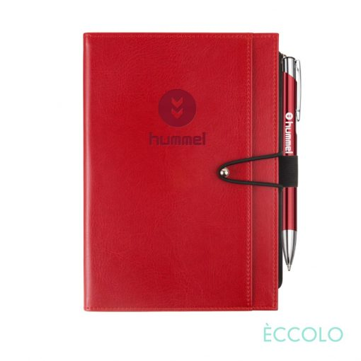 Eccolo® Slide Journal/Clicker Pen - (M) Red