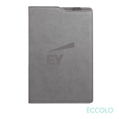 "Eccolo® Soca Journal - (M) 5¾""x8-5/8"" Gray"