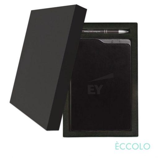 Eccolo® Soca Journal/Clicker Pen Gift Set - (M) Black