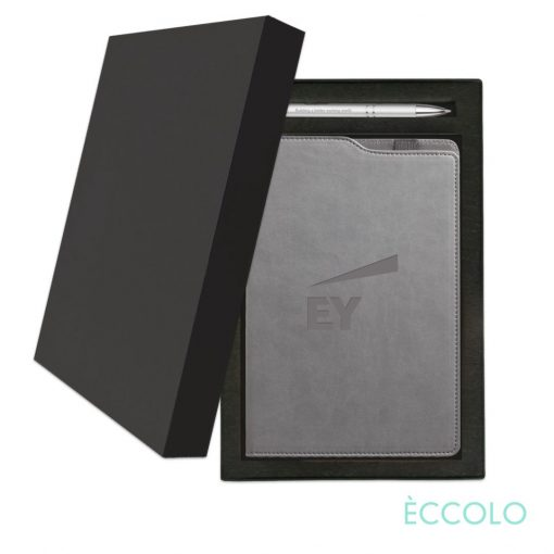 Eccolo® Soca Journal/Clicker Pen Gift Set - (M) Gray