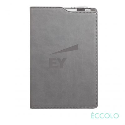 Eccolo® Soca Journal/Clicker Pen - (M) Gray