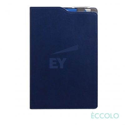 Eccolo® Soca Journal/Clicker Pen - (M) Navy Blue