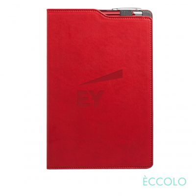 Eccolo® Soca Journal/Clicker Pen - (M) Red