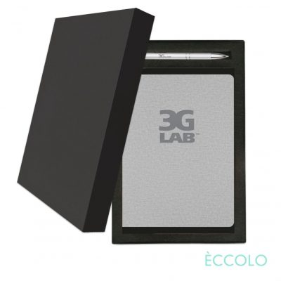 Eccolo® Solo Journal/Clicker Pen Gift Set - (M) Gray