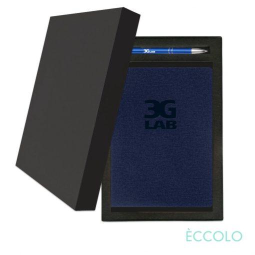 Eccolo® Solo Journal/Clicker Pen Gift Set - (M) Navy Blue