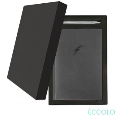 Eccolo® Symphony Journal/Clicker Pen Gift Set - (M) Gray