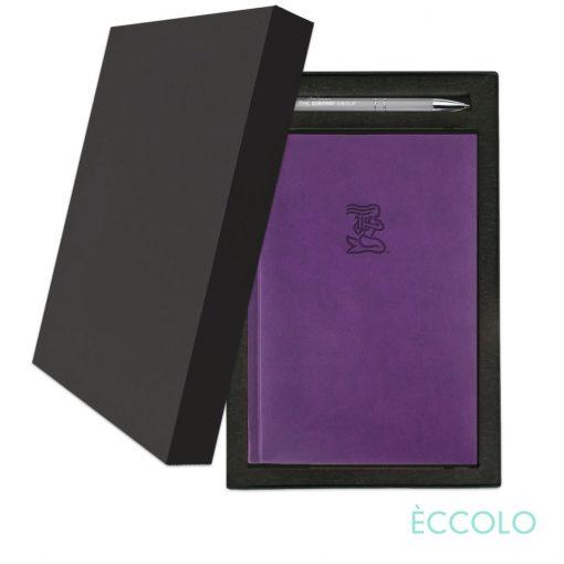 Eccolo® Symphony Journal/Clicker Pen Gift Set - (M) Purple
