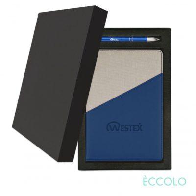 Eccolo® Tango Journal/Clicker Pen Gift Set - (M) Blue