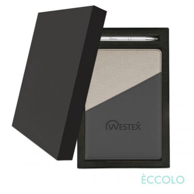 Eccolo® Tango Journal/Clicker Pen Gift Set - (M) Charcoal