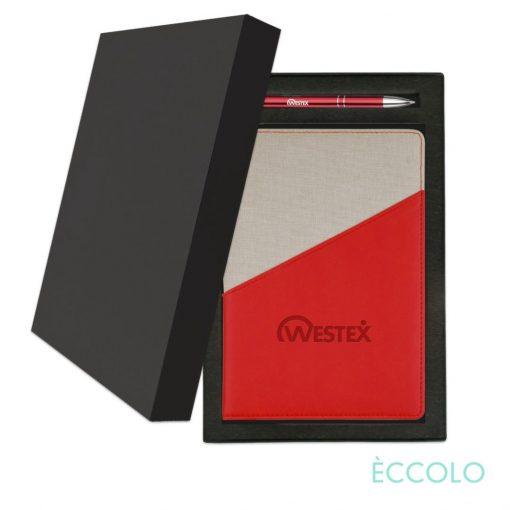 Eccolo® Tango Journal/Clicker Pen Gift Set - (M) Red
