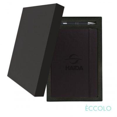 Eccolo® Techno Journal/Clicker Pen Gift Set - (M) Black
