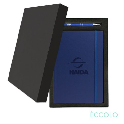 Eccolo® Techno Journal/Clicker Pen Gift Set - (M) Blue