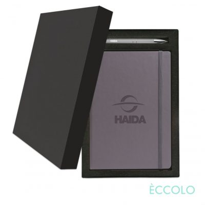 Eccolo® Techno Journal/Clicker Pen Gift Set - (M) Gray