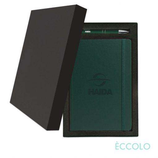 Eccolo® Techno Journal/Clicker Pen Gift Set - (M) Green