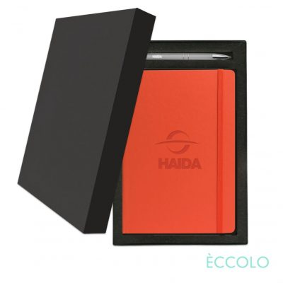 Eccolo® Techno Journal/Clicker Pen Gift Set - (M) Orange