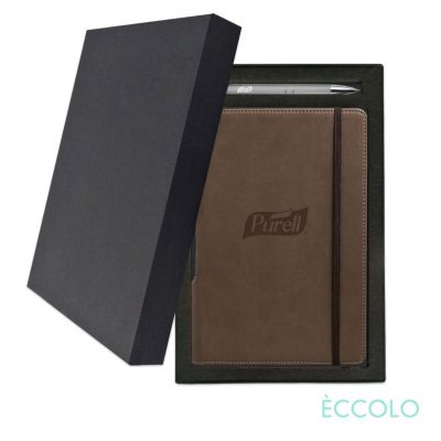 Eccolo® Tempo Journal/Clicker Pen Gift Set - (M) Brown