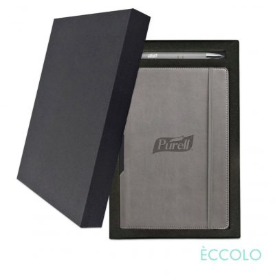 Eccolo® Tempo Journal/Clicker Pen Gift Set - (M) Gray