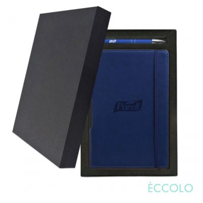 Eccolo® Tempo Journal/Clicker Pen Gift Set - (M) Navy Blue