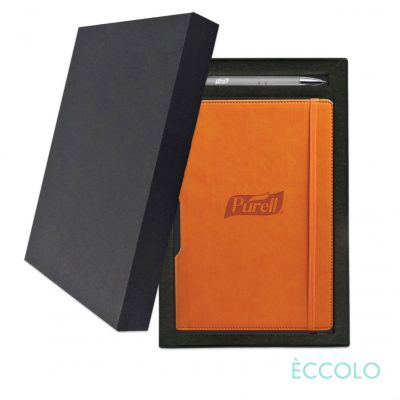 Eccolo® Tempo Journal/Clicker Pen Gift Set - (M) Orange