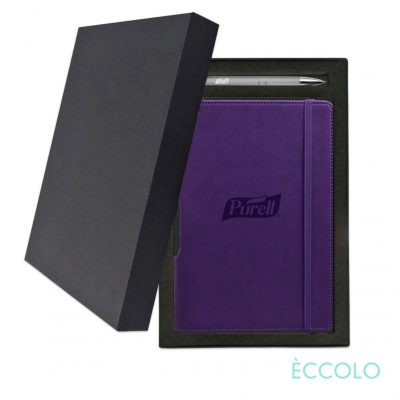 Eccolo® Tempo Journal/Clicker Pen Gift Set - (M) Purple