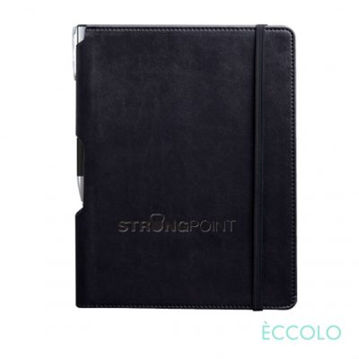 Eccolo® Tempo Journal/Clicker Pen - (M) Black