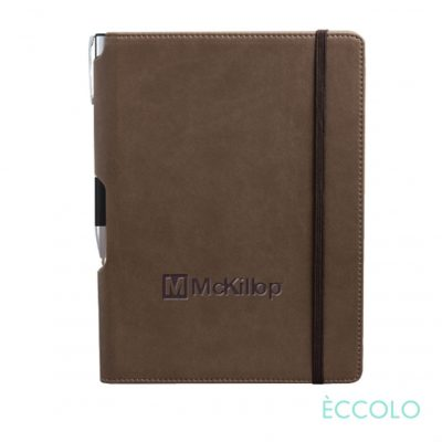 Eccolo® Tempo Journal/Clicker Pen - (M) Brown
