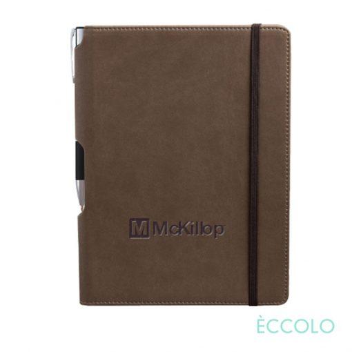 Eccolo® Tempo Journal/Clicker Pen - (M) Brown