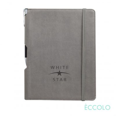 Eccolo® Tempo Journal/Clicker Pen - (M) Gray