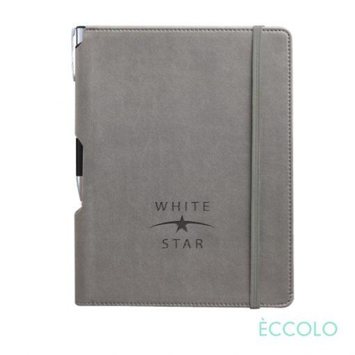Eccolo® Tempo Journal/Clicker Pen - (M) Gray