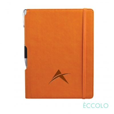 Eccolo® Tempo Journal/Clicker Pen - (M) Orange
